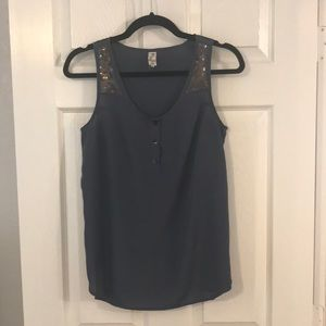 Anthropologie Tops - Navy Blouse with Sequins